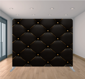 Fiesta Time Backdrop Black and Gold Leather