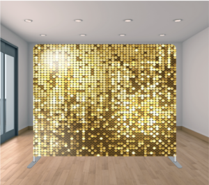 Fiesta Time Backdrop Gold Sequin