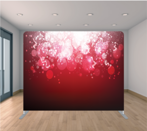 Fiesta Time Backdrop Red Bubbles